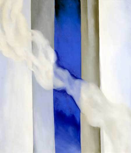 Georgia O'Keeffe (American, 1887-1986), Blue I, 1958, oil on canvas