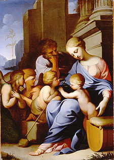 The Holy Family with the Infant St John and Two Angels
