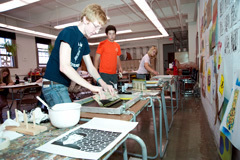 Summer Apprentices silkscreening