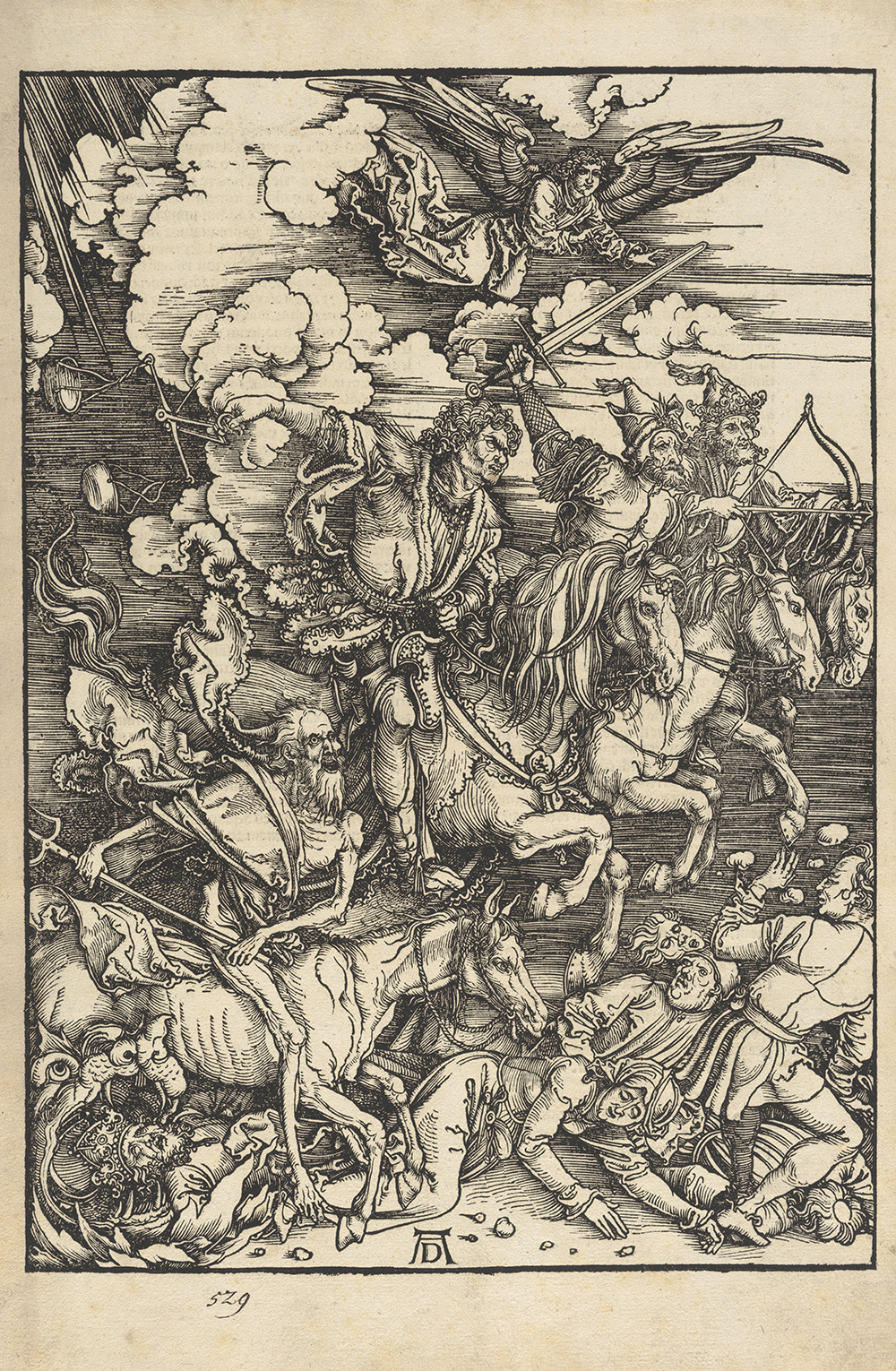 Albrecht Dürer (German 1471–1528), <i>The Four Horsemen of the Apocalypse</i>, 1511, woodcut. Acquired with funds provided by the estate of Edith and Dr. Paul J. Vignos Jr. '41, 2013.013.005