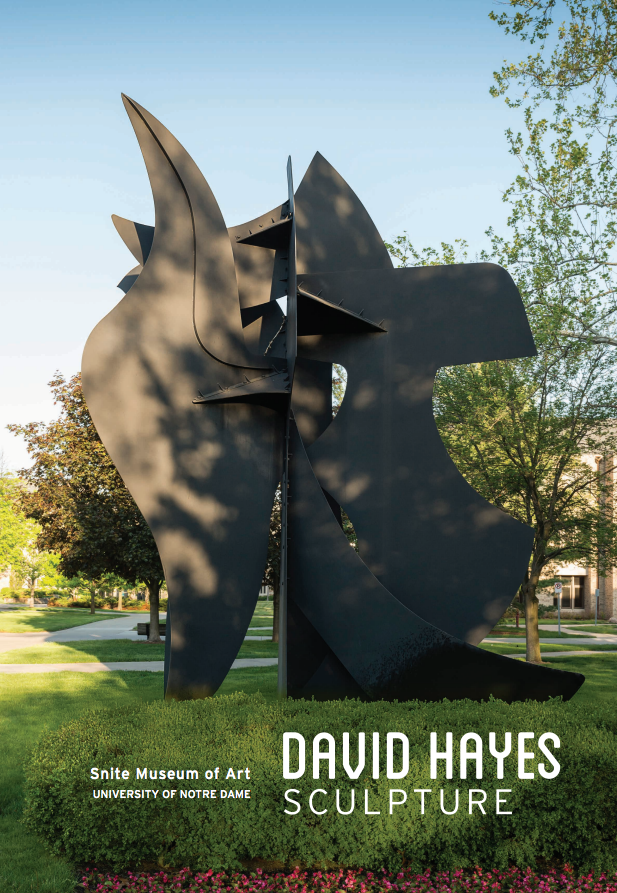 David Hayes' <em>Griffon</em>, 1989, is featured on the exhibition brochure cover. This 27-foot tall painted steel work was purchased with funds provided by the Humana Endowment for American Art, 1989.026