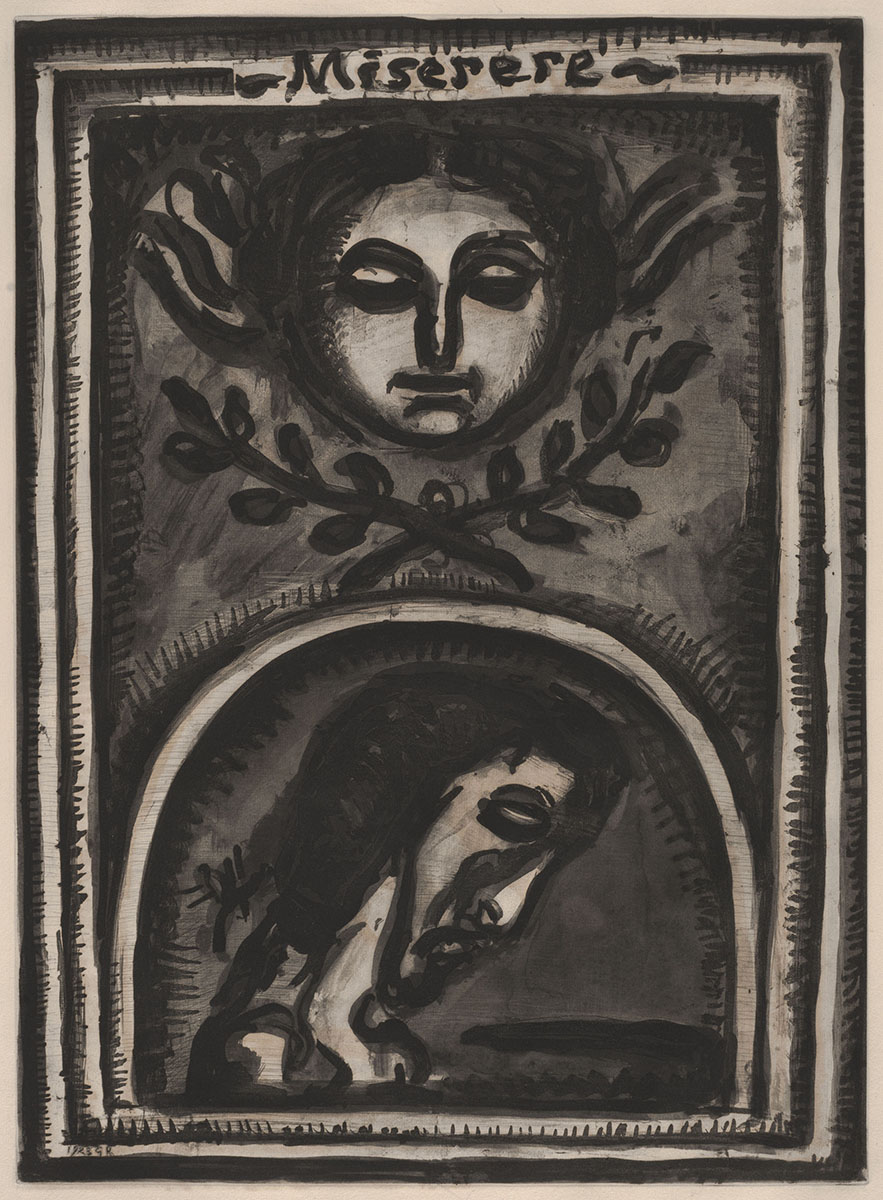 Georges Rouault (French, 1871–1958), <em>Miserere</em>, 1923, etching and aquatint over heliogravure. Gift of Mr. Leonard Scheller, 1974.108.006 © 2013 Artists Rights Society (ARS), New York / ADAGP, Paris. Reproduction, including downloading of Georges Rouault works is prohibited by copyright laws and international conventions without the express written permission of Artists Rights Society (ARS), New York.