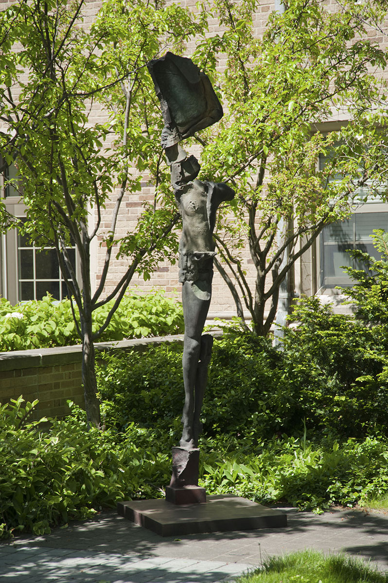 Stephen De Staebler (American, 1933–2011), <em>Single Winged Figure on Plinth</em>, 2010, bronze. Acquired with funds provided by the Humana Foundation Endowment for American Art, 2012.016
