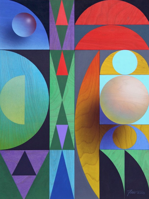 Geometrics in Nature: Trees and Birds Paintings and Sculptures by James Wille Faust