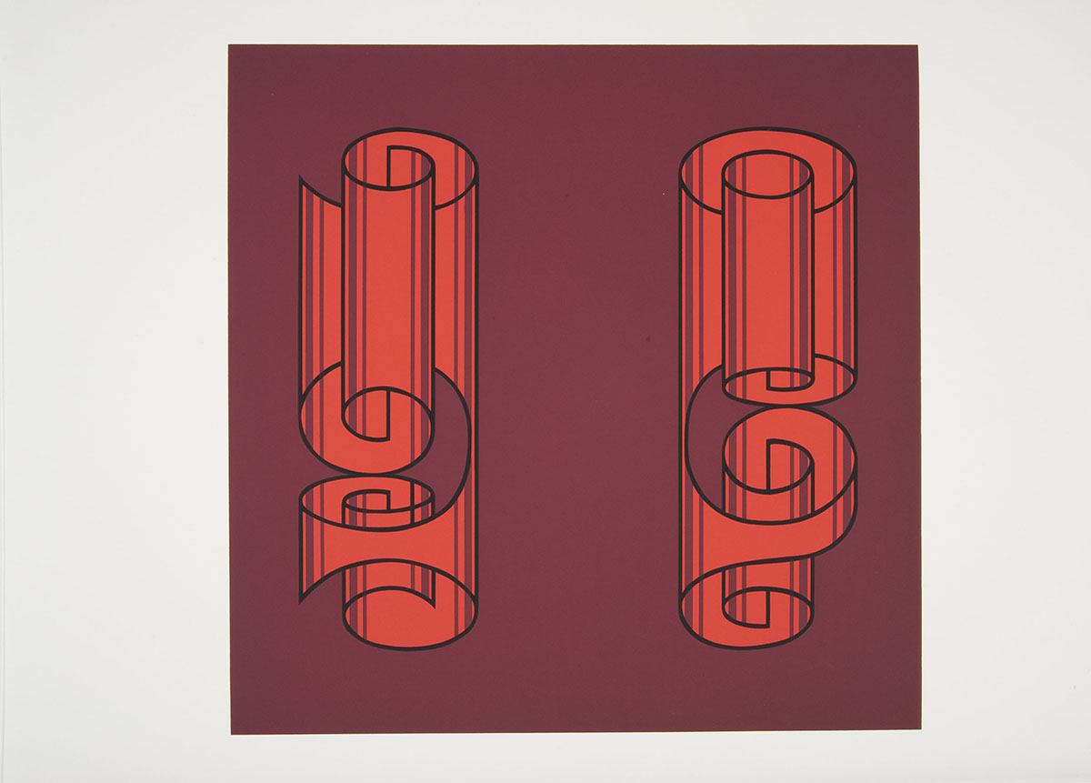 Josef Albers (German-American, 1888–1976), <em>Rolled Wrongly</em>, 1972, serigraph. Gift of Mr. and Mrs. James D. Griffin '45, 1973.093.018.