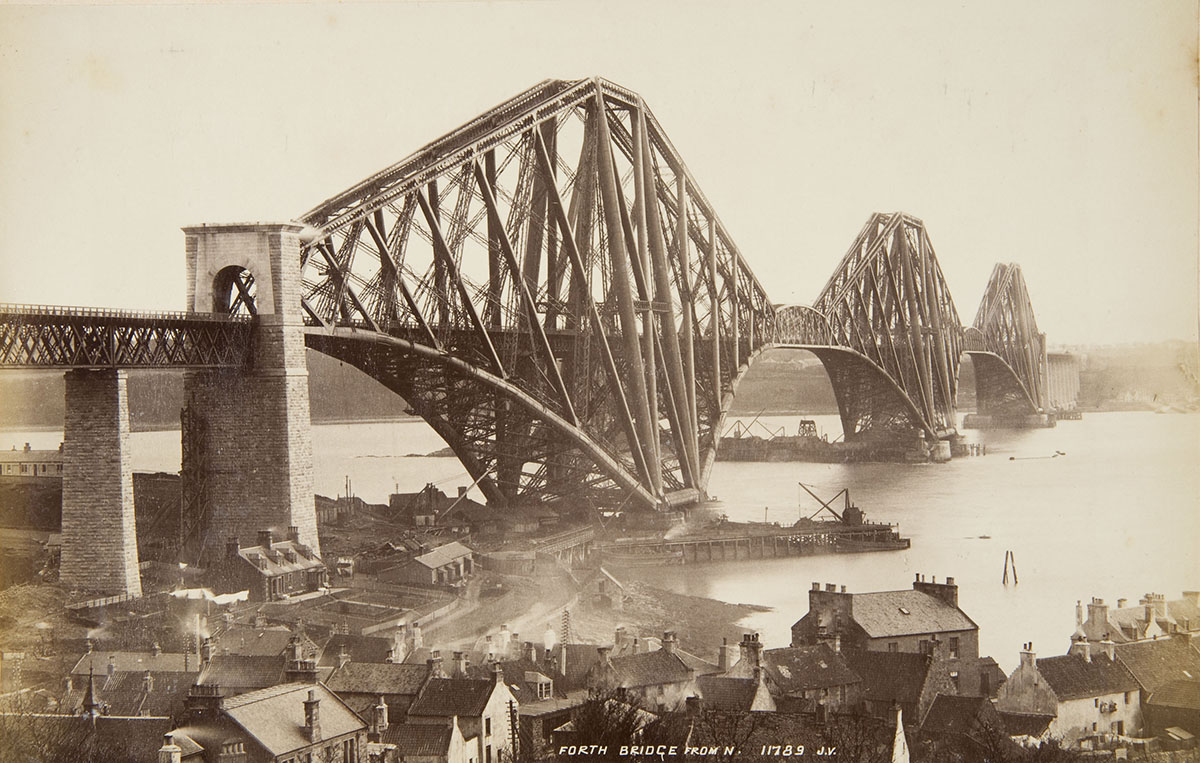 James Valentine &amp; Sons (British, 1880–1969), <em>Forth Bridge from the North</em>, 1890, albumen silver print. Janos Scholz Collection of Nineteenthth-Century European Photographs