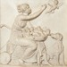 Bertel Thorvaldsen (Danish, 1770–1844), Shepherdess with a Nest of Amorins, 1831, marble, 23 x 22.75 (block). Gift of Mr. and Mrs. Alsdorf, 1985.067.004