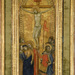 Master of the Fabriano Altarpiece, The Crucifixion, ca. 1360, tempera and gold on panel, 15.5 x 5.5 inches (framed). Gift of the Kress Foundation, 1961.047.004