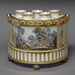 Staffordshire (British), <em>Bulb Pot</em>, ca. 1810, tin-glazed earthenware, 8.5 x 10.5 inches. Acquired in honor of Mr. Robert Dunfee, 1994.004