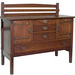Gustav Stickley (American, 1858–1942), <em>Sideboard</em>, ca. 1907, oak with copper hardware, 48.75 x 56 x 22 in. Acquired with funds provided by the William and Erma Travis Endowment fund for Decorative Arts and Director's Discretionary Fund, 1998.009