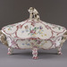 Marseille Factory of La Veuve Perrin (French), <em>Tureen with Cover</em>, ca. 1760, tin-glazed earthenware, 14.5 x 9.75 inches. Gift of J. Peter Ritten and Mary Ritten, 2007.024.a-b