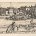 James McNeill Whistler (American, 1834–1903), <em>Black Lion Wharf</em>, from the <em>Thames Set</em>, 1859, etching on thin laid paper, 5.75 x 8.88 inches (plate). Acquired with funds provided by the Humana Foundation Endowment for American Art, 1991.001