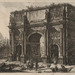 Giovanni Battista Piranesi (Italian, 1720–1778), <em>The Arch of Constantine</em>, from the series <em>Views of Rome</em>, 1771, etching on laid paper, 18.75 x 27.88 inches (plate). Gift of Rica and Harvey Spivack, 2006.008.009