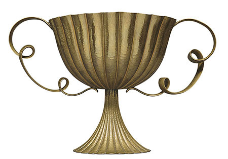 Josef Hoffman, (Austrian, 1870–1956), <em>Coupe with Fluted Handles</em>, ca