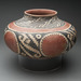 Western Pueblo Culture (Arizona, Pueblo II-III), <em>Olla with Geometric decoration</em>, late Pueblo III-Early Pueblo IV, 1350-1450, slipped and painted earthenware,  10.5 x 16.25 inches. Gift of Mr. and Mrs. Paul B. Markovits, 1993,092.002
