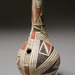 Casa Grandes Culture (Chihuahua, Mexico), <em>One-Note Bottle Flute in Shape of a Gourd</em>, Medio Period, 1200-1450, slipped and painted earthenware, 11.75 x 5.5 inches.