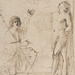 Guercino (Italian, 1591–1666), <em>Saint Sebastian Appearing to Saint Roch</em> (?), 1632-34, pen and brown ink on laid paper, 8.58 × 5.98 inches. Gift of Mr. John D. Reilly '63, 1994.049.006
