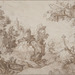 Paul Bril (Flemish, 1554–1626), <em>Landscape with a Nobleman and His Servant</em>, n.d., pen and brown ink, 8 × 11 inches. Gift of Mr. John D. Reilly '63, 1996.070.002
