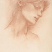 Edward Burne-Jones (British, 1833–1898), <em>Head of a Young Girl</em>, n.d., red chalk on wove paper, 9.38 x 5.75 inches. Gift of Mr. John D. Reilly '63, 2014