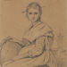 Jean-Baptiste-Camille Corot (French, 1796–1875), <em>Study of Rosa</em>, ca. 1825-28, brown ink and graphite, 6.13 x 5 inches. Gift of Mr. John D. Reilly '63, 2014