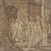 Unknown artist (Netherlandish), <em>Procession</em>, ca. 1520, brown ink on vellum, 14.63 x 11 inches. Gift of Mr. John D. Reilly '63, 2014