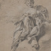 Charles Errard (French, 1601–1689), <em>Allegorical Figure</em>, black chalk heightened with white, 8.88 x 7 inches. Gift of Mr. John D. Reilly '63, 2014
