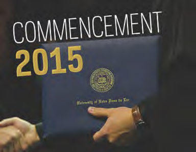 2015 Commencement Weekend is May 15-17