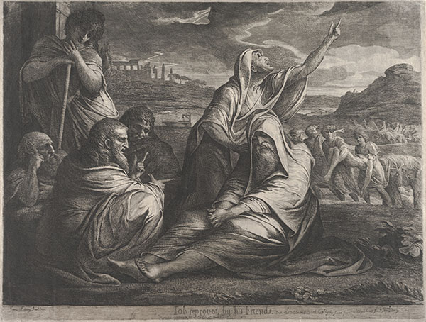 James Barry (Irish, 1741–1806), <em>Job Reproved by His Friends</em>, 1776/ca. 1790, etching and engraving with aquatint and roulette on wove paper, 22.9 x 29.6 inches. Gift of William and Nancy Pressly in honor of the Stent Family, 2015.002.002