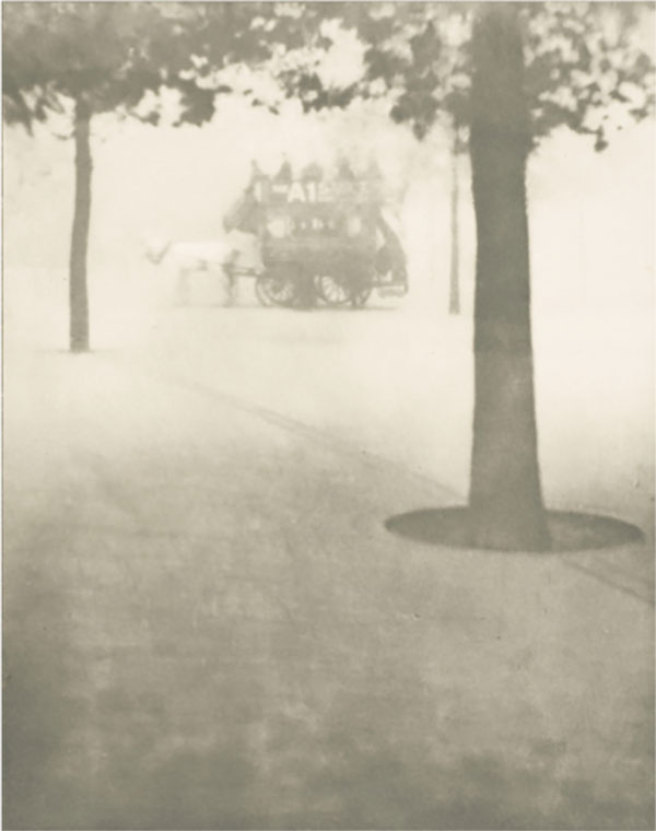Alvin Langdon Coburn, American, 1882-1966, <i>Hyde Park Corner,</i> about 1905, from London, 1908, photogravure, Snite Museum of Art, Gift of Douglas Barton, Charles Rosenbaum, and Harry Heppenheimer, 1985.073.001