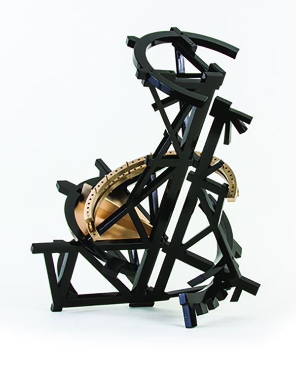 Michael Dunbar (American, b. 1947), <em>Black Moonraker</em>, 2014, cast and machined bronze, 26 x 15 x 16 inches.  Courtesy of the artist.  Photograph by Curt Neitzke.