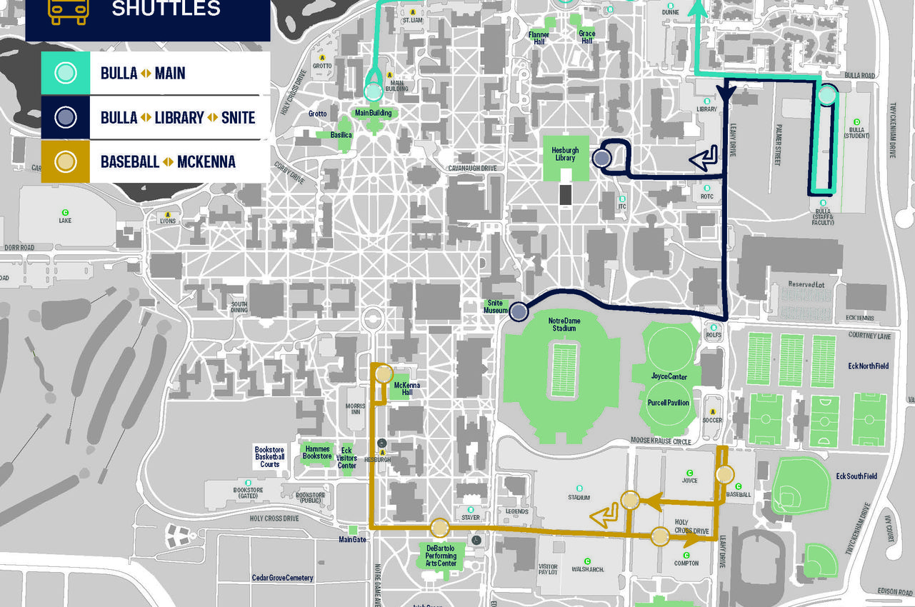 Campus Shuttle Map August 2017
