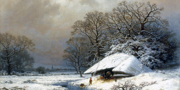 Snow Scene, New York State, ca.1865 by Wm. Mason Brown (American, 1830-1895). Acquired with funds provided by Mr. and Mrs. Allan J. Riley,1996 038.