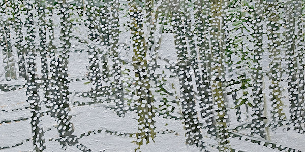 ,<em>Sun and Snowfall,</em> 1996 by Neil Welliver (American, 1929-2005), Gift of Jack and Mary Ann Mognaz, 1995 082 048