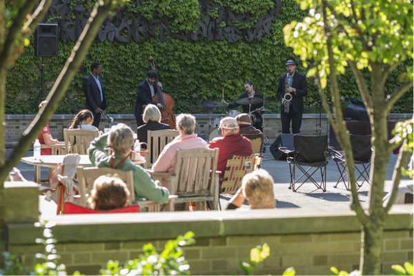 Jazz on courtyard