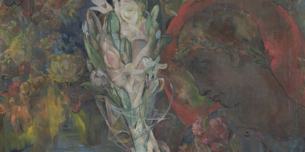 Mary Swanzy (1882–1978), <em>Young Claudius</em> (detail), 1942, oil on canvas, 20 x 24 inches. Gift of the Donald and Marilyn Keough Foundation, 2019.001.002. © The Artist's Estate.